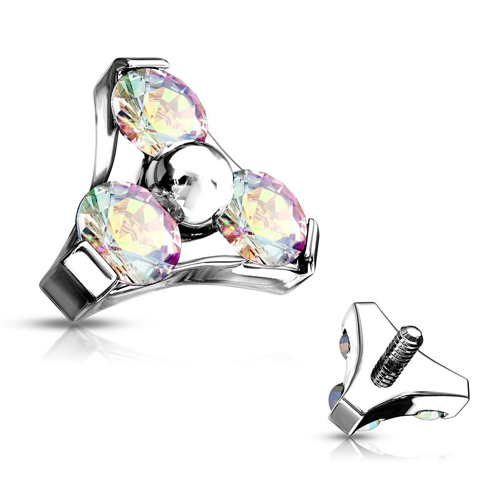 Innengewinde Aufsetzer Top mit drei Kristallen | Frühjahr ...