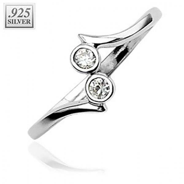 Fußring Silber Diamant 925 Sterling