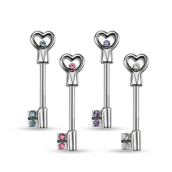 Herz Schlüssel Nippelpiercing