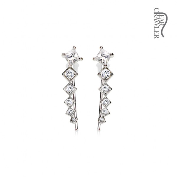 1 Paar Ohrringe Zirkonia Stecker Ohr Ear Crawler/Ear Climber