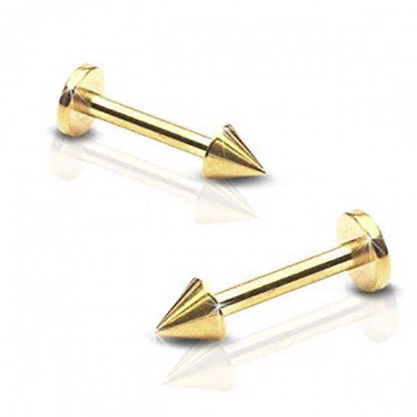 Stachel Labret Monroe Ohrpiercing mit Gold plattiertes Chirurgenstahl 316L