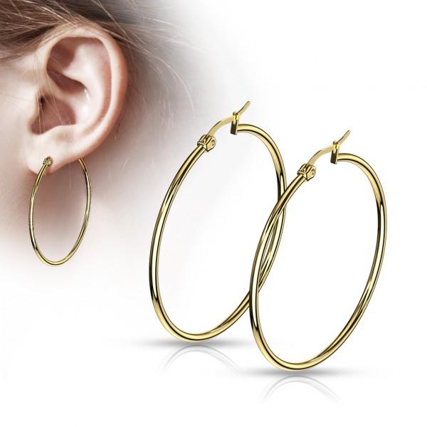 ein Paar Ohrringe aus Gold, 316L rostfreier Stahl