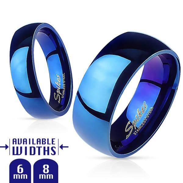 316L Chirurgenstahl Blau Ring viele Größen