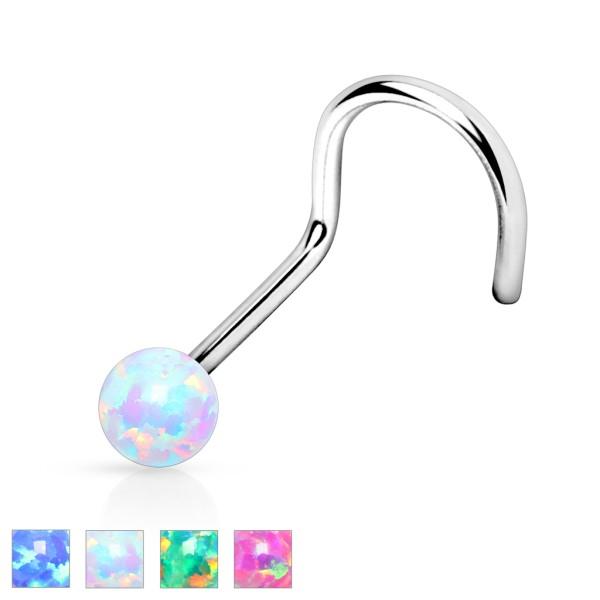 Opal Nasenpiercing 316L Chirurgenstahl