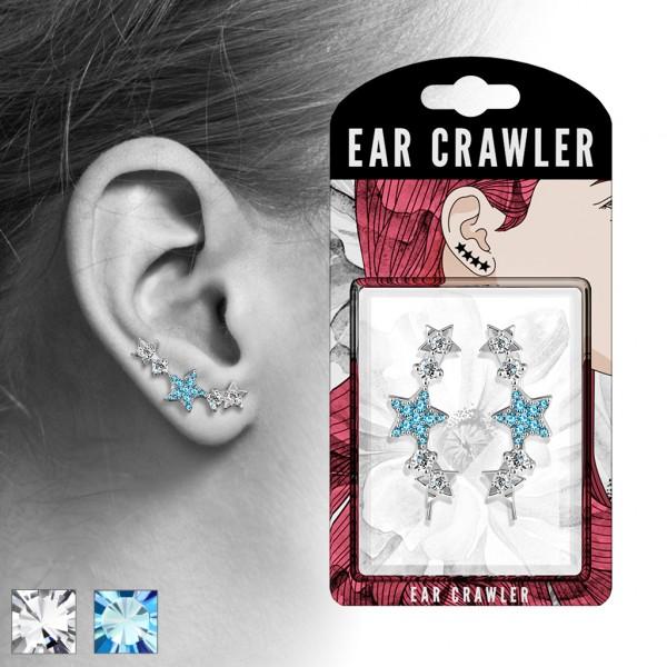 1 Paar Ear Crawler Sterne Ohrringe Ear Climber