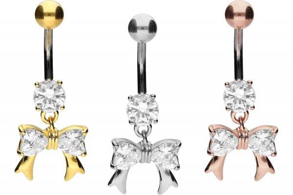 Titan Bananabell mit 925er Silber-Design KRISTALLSCHLEIFE