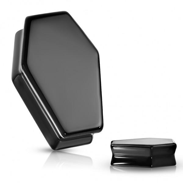 Obsidian Schwarzer Sarg Naturstein Flesh Plug