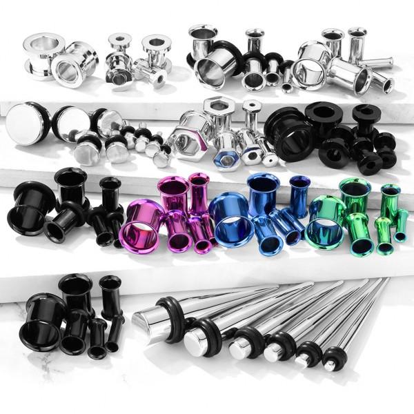 Starter Pack Piercingstudio 300 Stück Plugs