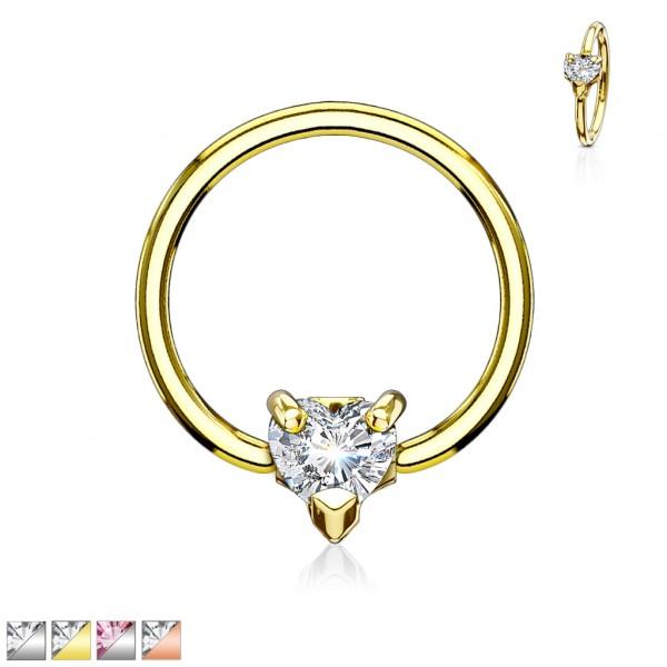 Herz Gold Ring 316L Stahl