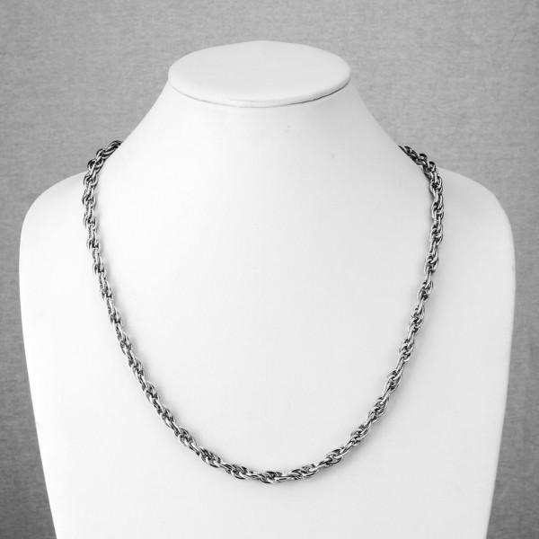 Tri-Link Entangle Kette Halskette Ring 316L Chirurgenstahl