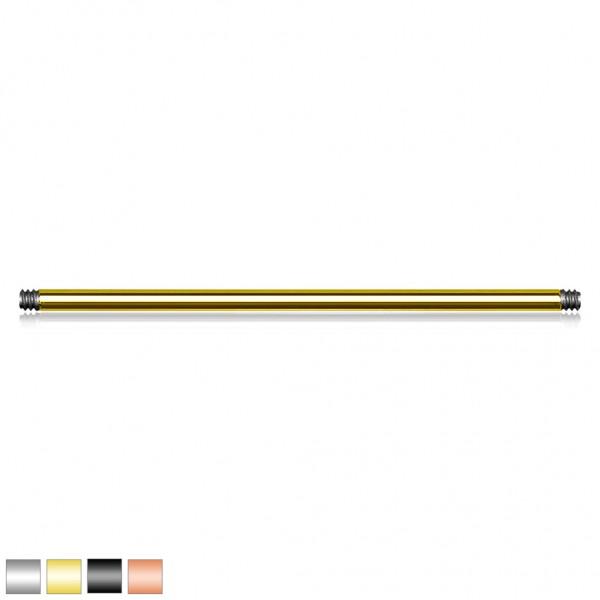 10 Stück External Thread 316L Chirurgenstahl Barbell Pins Gold Schwarz
