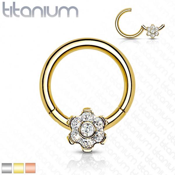Titan Premium Segment Clicker mit Zirkonia Blume