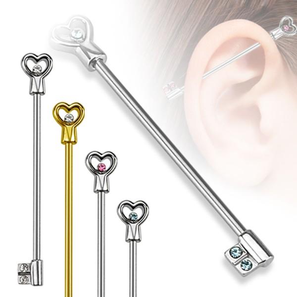 Herz Schlüssel Industrial Piercing