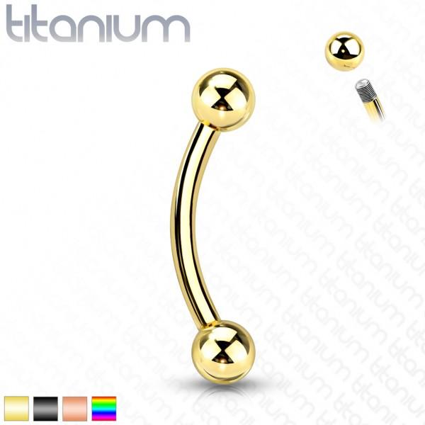 Titan G23 Banane mit Kugel Curved Barbell