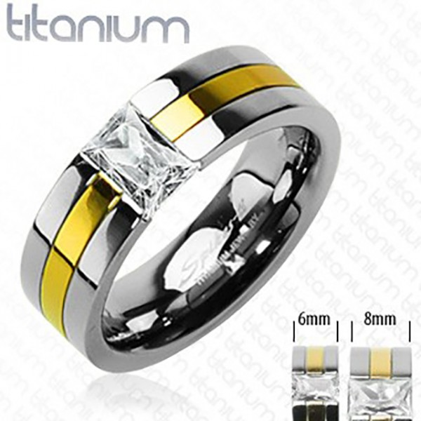 Ring gold Kristall Titan